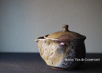 Bizen wood fired Houhin Yellow Ash 備前 宝瓶 BX