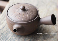 [ T02] 陶寿仿木质茶壺急須 TOJU Wood like Small Pottery Teapot KYUSU