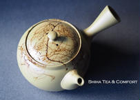 Hakusan Mogake Yellow Green Teapot 白山藻掛
