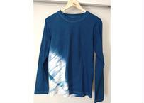 世界にたった一つだけの藍染めTシャツ 長袖 Mサイズ