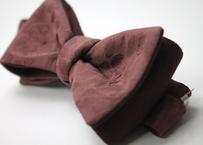 蝶ネクタイ KIMONO fabric 小豆色 西陣織  上京蝶帯 #600