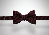 蝶ネクタイ KIMONO fabric 縞 上京蝶帯 #581