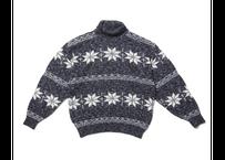 Vintage|High neck knit