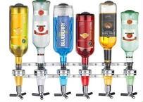 壁掛けアルコールディスペンサー 6本 ワインディスペンサー ビール バー ボトルディスペンサー