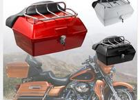 大型バイク用 ツーリングトランク ツアーパック 48L (3カラー/背もたれ付)+マウントラック+ベース 耐衝撃 リア テイル ボックス