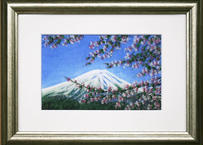 富士に桜、奇跡の貴石