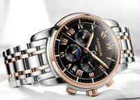 メンズ 腕時計 海外高級ブランド Carnival ミリタリー仕様 自動巻 機械式 サファイアフルスチール 防水 ゴールドブラック