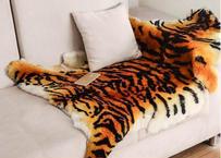 ラージサイズ タイガー ふわふわ ラグ マット カーペット リビング ベッドルーム