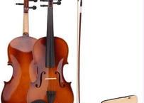 バイオリン 4/4 本体 アコースティック 弦 弓 木製  高品質 セット