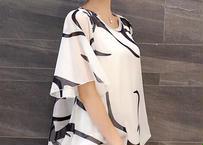 夏 半袖 女性 ファッション サイズ5XLまで対応 シフォン ブラウス トップス