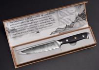Sunnecko 5インチ ダマスカス ユーティリティナイフ 日本製 VG10スチール シャープブレード 多目的キッチンナイフ