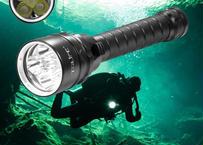 強力 10000LM 5×T6 ダイビング 懐中電灯 ダイビング ライト トーチ 潜水 スキューバ 水中 防水 100m 6500K