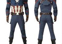アベンジャーズ キャプテンアメリカ コスプレ 衣装 スティーブロジャース ジャンプスーツ ブーツ付 ハロウィン 受注生産品