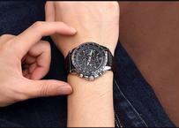 MEGIR メンズ 腕時計 高級ブランド  ミリタリー アーミー 革ストラップ ビジネス クォーツ