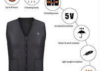 男性 女性 屋外 USB 赤外線 加熱 ベスト ジャケット