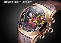Reef Tiger 女性 ファッション ムーブメント スケルトン 腕時計 ローズゴールド ステンレス スチール