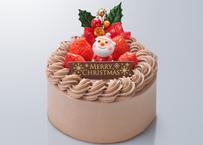 *店頭お渡しのみ* X'masチョコクリームデコレーションケーキ4号 WEB限定100円引き!¥2,900(税抜)→¥2,800(税抜)