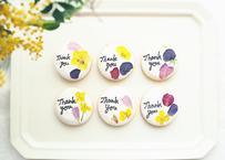 メッセージ入りお花のアイシングクッキー 10枚