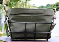 ワイドバッグ(カーキ)+ アルミ樹脂製底板バスケット(ブラック)セット