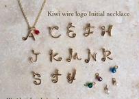 Kiwiワイヤーロゴイニシャルネックレス