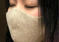 柔らかコットン洗える 「ニットの3Dマスク 」(フリー男女兼用・ナチュラル)<日本製>