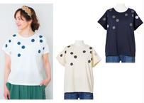バブルドットプリントTシャツ