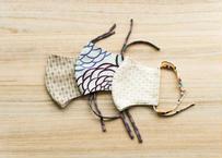 【男女兼用/柄物】京呉服店で丁寧に仕立てた晒・ガーゼマスク 3種セット