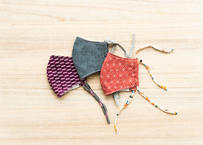 【キッズ/中サイズ】京呉服店で丁寧に仕立てた晒・ガーゼマスク 3種セット