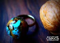 クルミのカケラのリング