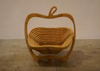 Folding bamboo basket