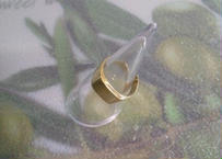 印台リング風 真鍮(しんちゅう)指輪 17号 #006