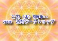 7/23(木・祝)9時半~ zoom 法則プレワークショップ