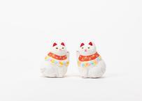 招き猫セット(白)/前田ビバリー