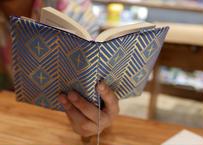 西陣織 ブックカバー 正絹 菱つなぎ紋様 一点もの