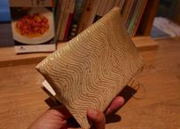 西陣織 ブックカバー 正絹 流水水玉紋様 一点もの