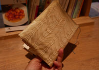 西陣織 ブックカバー 正絹 流水紋様 一点もの