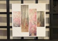 京都個展展示作品 / サザンカと京の竹