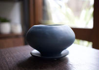 植木鉢 葉室 濃青 鉢皿付き