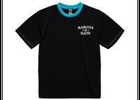 ドライTシャツ/ブラックターコイズブルー(プリント:オフホワイト)