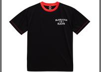 ドライTシャツ/ブラックレッド(プリント:オフホワイト)