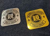 FIELD CREWメタルステッカー/シルバー&ゴールド セット