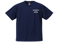 ドライTシャツ/ネイビー(プリント:オフホワイト)