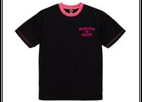 ドライTシャツ/ブラックトロピカルピンク(プリント:ピンク)
