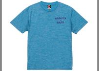 ドライTシャツ/ヘザーブルー(プリント:ネイビー)