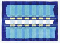 ラグマット tape(ブルー/140×200cm)