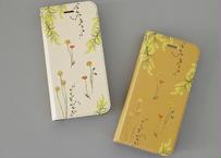 黄色い花たちの手帳型iPhoneケース