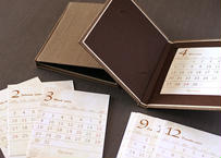 専用フレーム*小さな図鑑風卓上カレンダー2020〔ブラウン〕