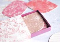 ピンク系*ボタニカル柄メッセージカードBOX