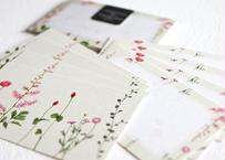 ピンクの花たちのメッセージカード