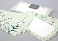 白い花たちのメッセージカード
